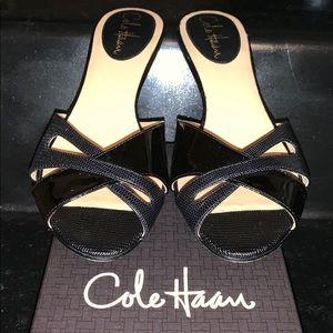 Cole Haan Black Air Nora Slide Heels 7